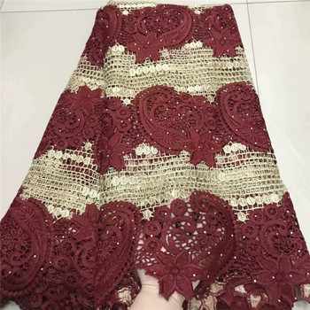 2019 Nigerian French Net Laces Fabric Embroidered Lace African Lace Fabric High Quality Dubai Guipure Mesh Lace 5 Yards df82-539