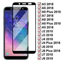 9D de vidrio templado para Samsung Galaxy A8 A6 J4 J6 Plus 2018 protectora de vidrio A5 A7 A9 J2 J3 J7 J8 2018 A10 A30 A50 A70 película de vidrio