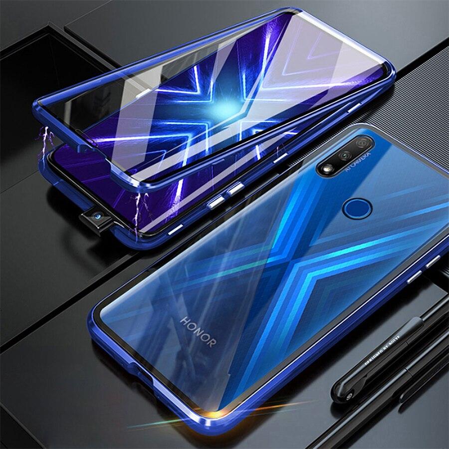 Чехол для Huawei P Smart 2021 двухсторонний Магнитный 360 полная защита закаленное стекло для Huawei P Smart 2021 Чехол флип-чехол