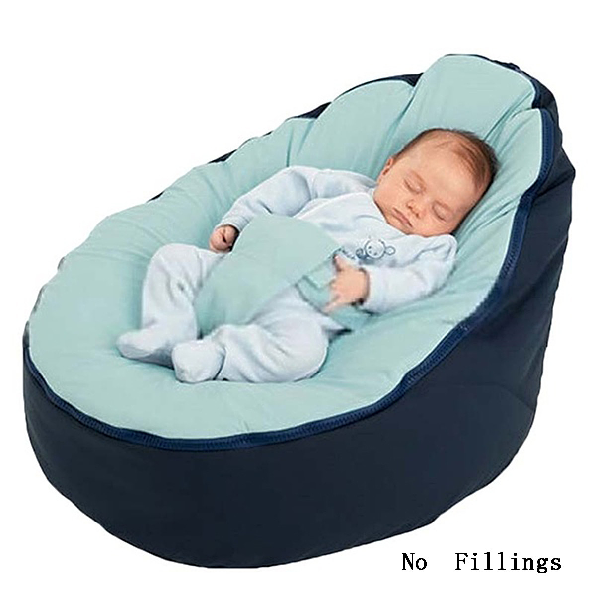 Soft Baby Chair Infant Bean Bag Bed Cover Without Filler Pouf For Feeding Baby Snuggle Bed With Belt For Safety Protection