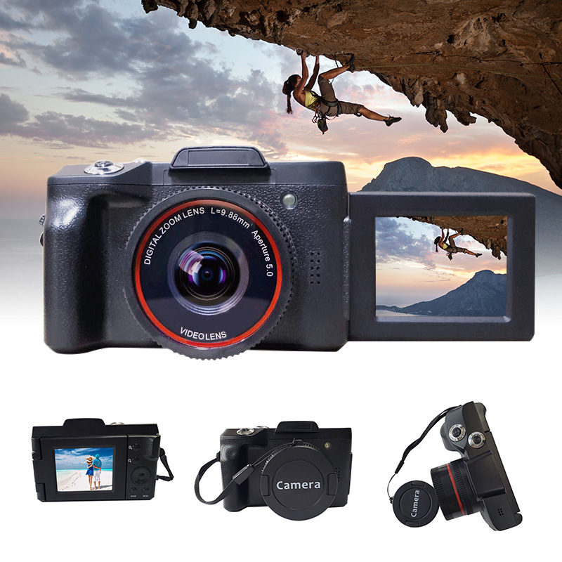 Video-Camera Lens 16mp-Recorder Youtube Digital Full-Hd 1080P with Wide-Angle for Vlogging