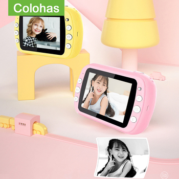 Kids Video Digital Camera Chirdren's Instantane Toy For Girls Instant Print Photo Christmas Brithday Gift - discount item  40% OFF Camera & Photo