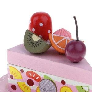 Image 5 - Kinder Pretend Spielen Lebensmittel, Holz Schneiden Geburtstag Party Kuchen Spielzeug Set, Nachmittag Tee Dessert Modell, eltern kind Interaktion Spielzeug