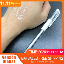 10pcs White Eyebrow Marker Pen Tattoo Accessories Microblading Tattoo Surgical Skin Marker Pen for Permanent Make up Supplies