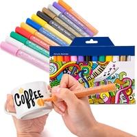 24 Colors/Set Acrylic Paint Marker pen for Ceramic Rock Glass Porcelain Mug Wood Fabric Canvas Painting