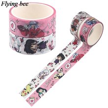 Flyingbee 15mmx5m васи лента декоративная клейкая аниме ленты