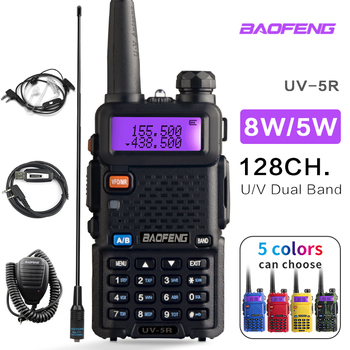 BaoFeng UV-5R Walkie Talkie Professional CB Radio Baofeng UV5R Transceiver 128CH 5W VHF&UHF Handheld UV 5R For Hunting Radio 2pcs quansheng tg uv2 plus walkie talkie 10km 10w 4000mah ham radio uhf vhf radio ham hf transceiver cb radio tg uv2 2 way radio