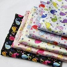 100cm*148cm Cartoon Satin Fabric Soft Scarf Lining Diy Material Charmeuse