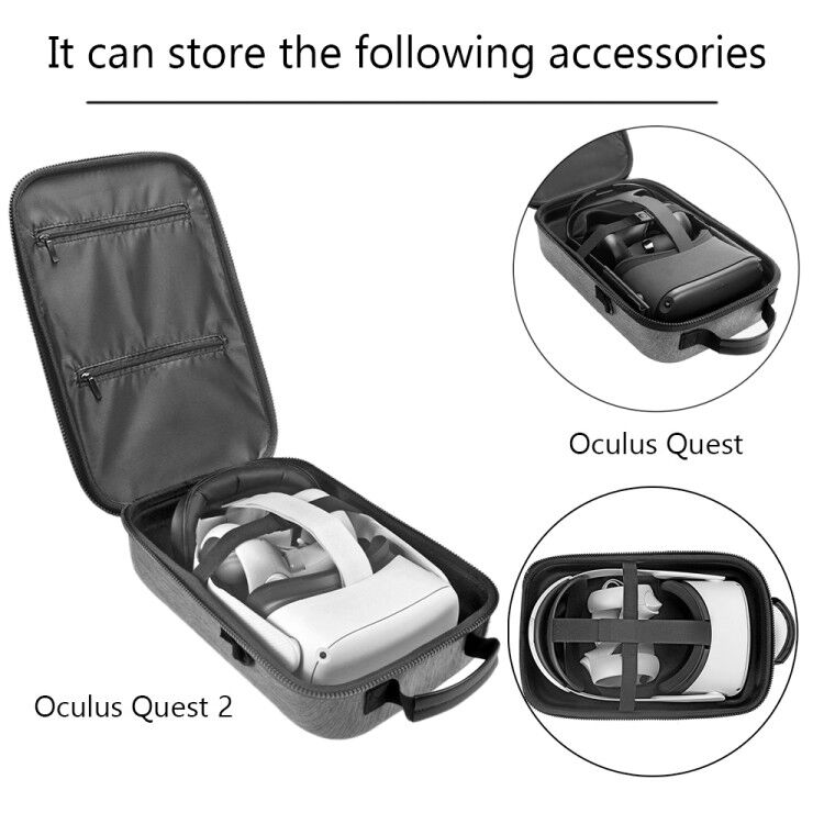 Hard EVA Travel Carrying Case Storage Box Bag for Oculus Quest Oculus Quest 2 VR Gaming Headset and Controllers Accessories