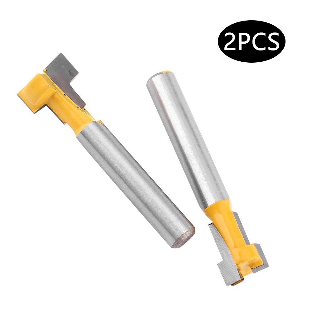Фрезерный инструмент, Т-образная желтая насадка для деревообработки, 1/4 дюйма, 2 шт.