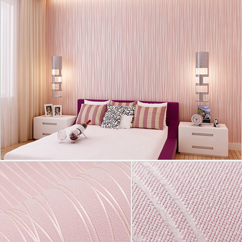 European Style Non-woven Wallpaper Classic Room Decor Wall Paper Wallcovering Luxury Solid Color Stickers Wallpaper For Bedroom