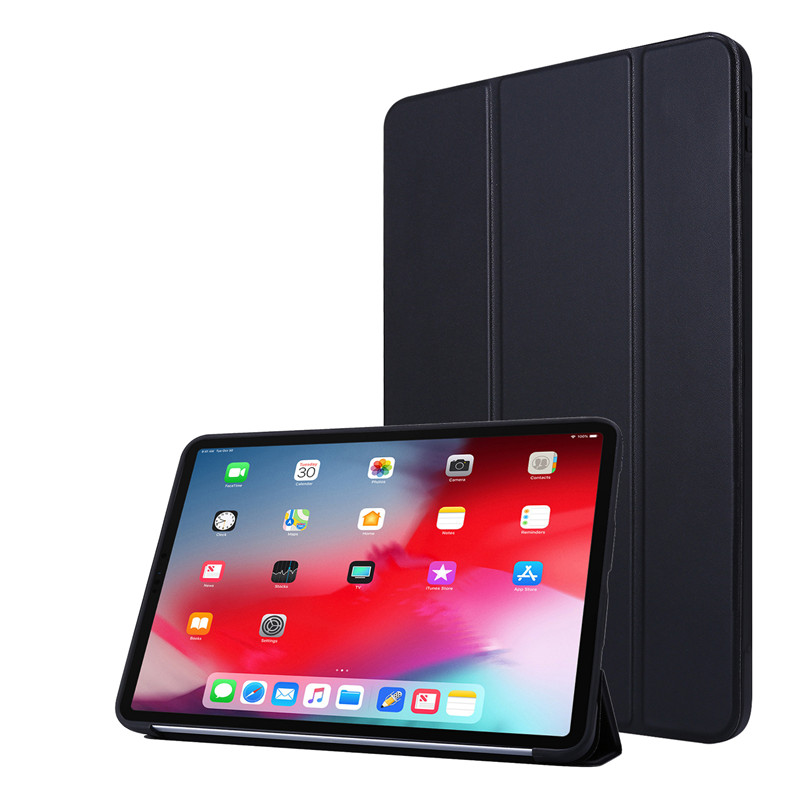 Black Red Cover Case For iPad 11Pro Case 2020 Tri fold PU Leather Smart Soft Silicone Case For