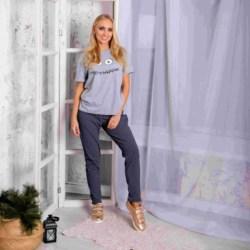 Pijamas para el hogar Atoff hembra ZHP 024/2 (gris + moteado en negro)