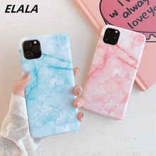 ELALA Glossy Marble Case For iPhone X Dreamy Candy Color Soft Silicon Cover 11 Pro XS Max XR 6 s 7 8 Plus