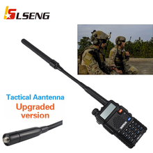 LSENG 136-174 400-470MHz Foldable SMA-Female CS Tactical Walkie Talkie Antenna for BaoFeng UV-5R BF-888S 666 777 KENWOOD Linton