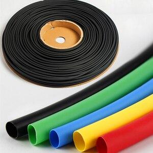 1 mètre thermorétractable tube 2:1 transparent thermorétractable ensemble de tubes colle adhésif 2.0/3.0/4.5/5.0MMpvc blanc rétractable manchon de câble