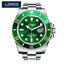 LOREO 2020 Watch Men Luxury Brand Automatic Mechanical Men's Watch 200M Waterproof Swim Sports Sapphire Wristwatch Male Clock loreo authentic automatic mechanical watch waterproof belt diamond fashion luxury elegant hollow lady watch