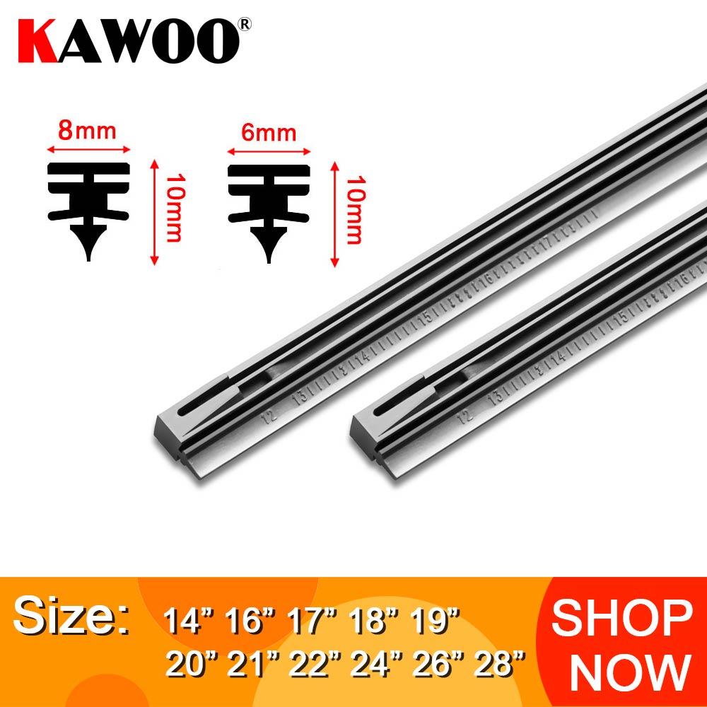 Kawoo 1 pces tira de borracha da inserção da lâmina do limpador do pára-brisas do carro (recarga) 8mm/6mm macio 14