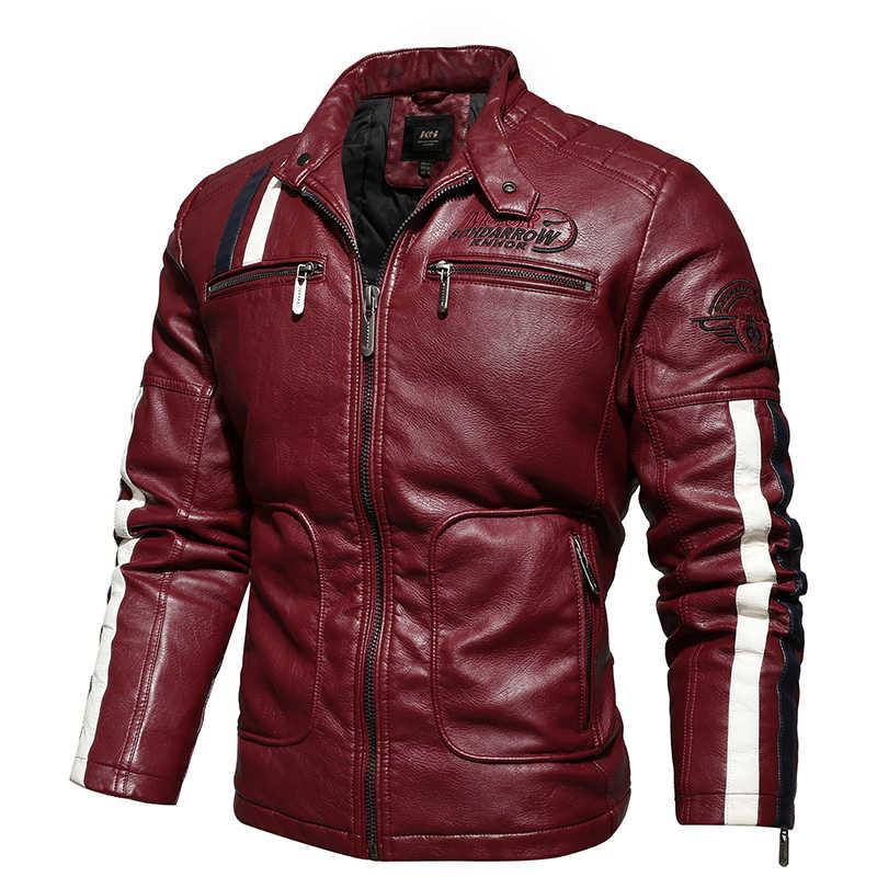 Nieuwe Leren Jas Mannen Merk Casual Solid Mens Lederen Jassen Herfst Winter Motorcycle Pu Leather Mannelijke Uitloper Jaqueta De Couro