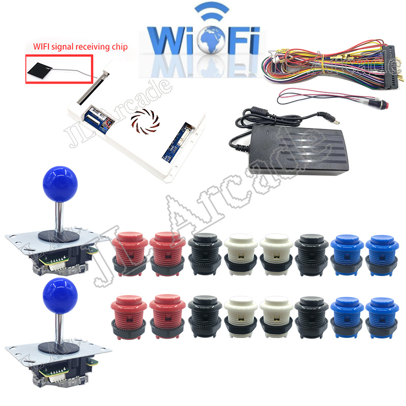2 Player DIY Arcade Kit Pandora Game 3D 2448 In 1 WIFI Add Game 8 Way Joystick American HAPP Style Push Button For Arcade