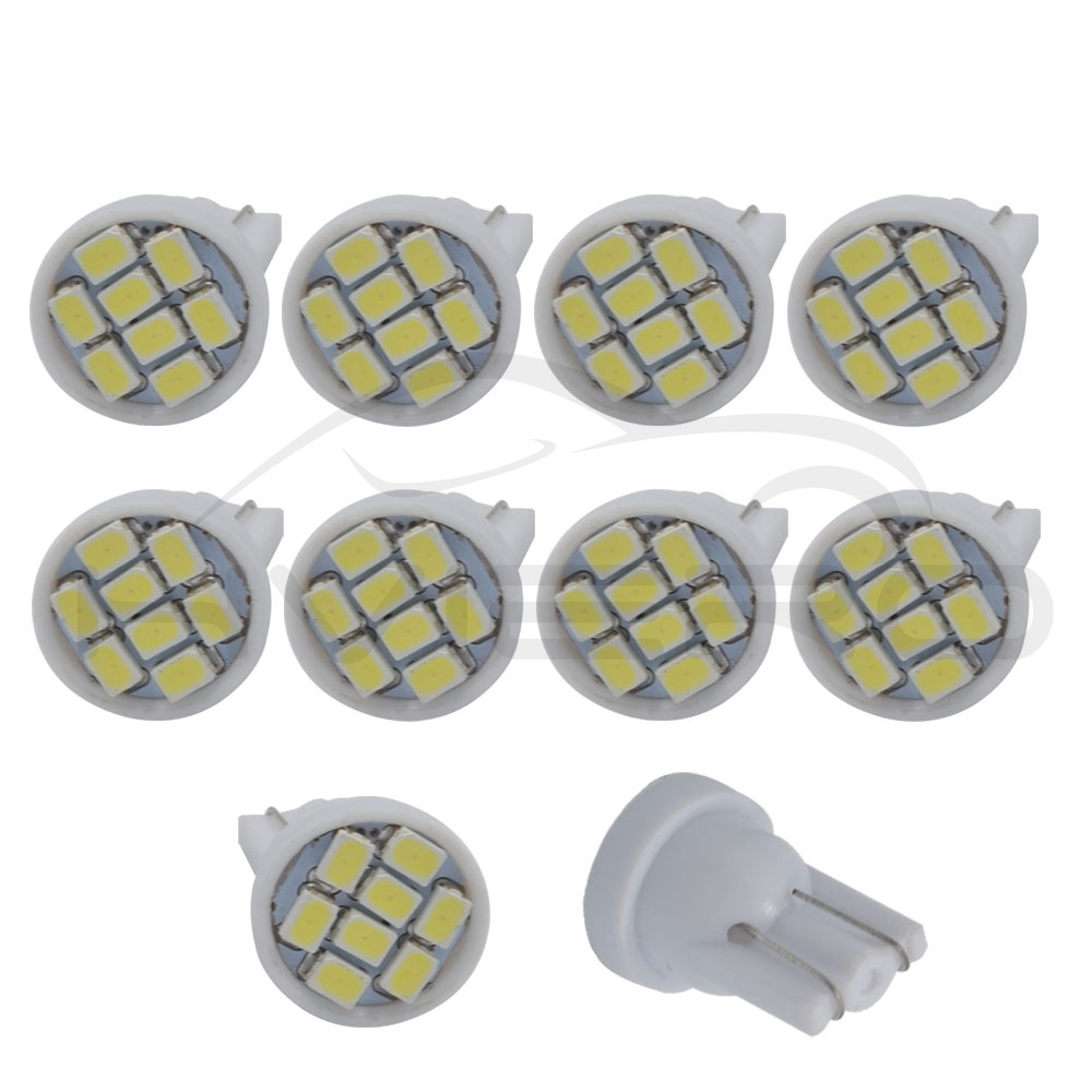 10Pcs x T10 5050 1SMD LED Light W5W Car Auto License Plate Lamp Width Roof Bulb