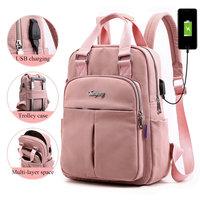 الفتيات محمول حقائب الظهر الوردي الرجال USB شحن على ظهره النساء حقيبة السفر الحقائب المدرسية حقيبة للبنين المراهقين mochila escolar 2021