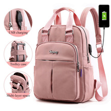 Bag Backpacks Mochila Laptop School-Bags Escolar Teenage Travel Girls Boys Pink for Usb-Charging