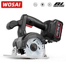 WOSAI-Sierra eléctrica Circular sin escobillas, 20V, cuchilla de 4 pulgadas para cuchillas de sierra para madera MT-SER, sierra Circular inalámbrica
