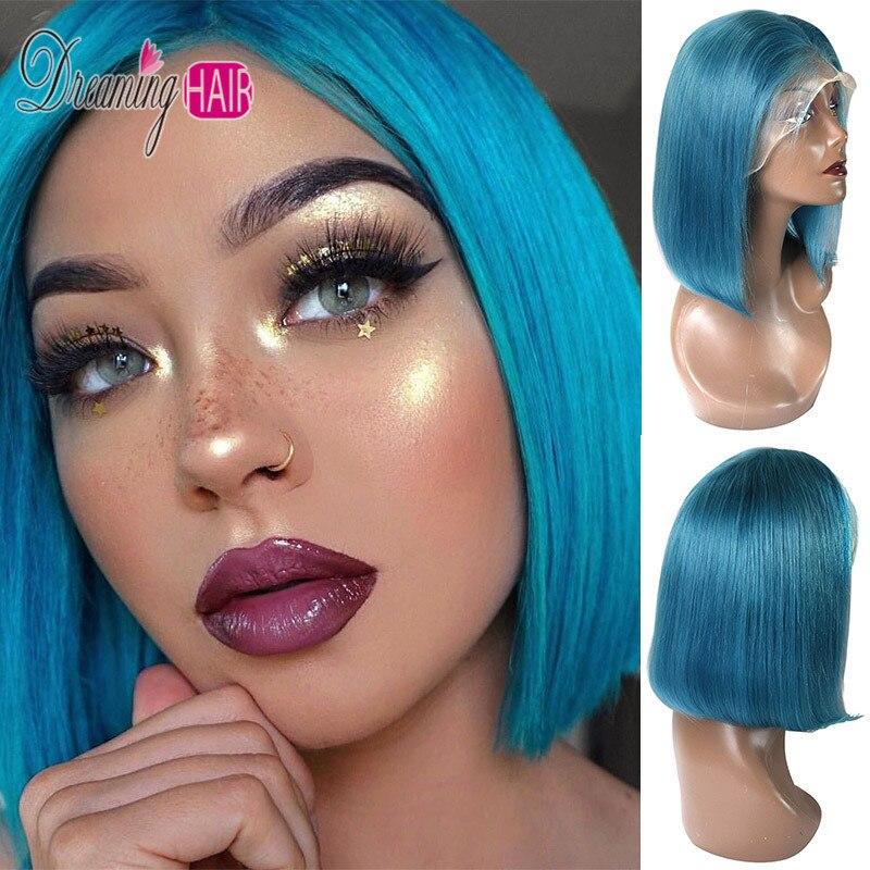 sky blue bob wig