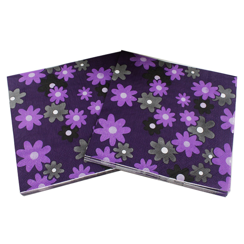 [Currently Available] Manufacturers Direct Selling Color Printed Napkin Sunflower Creative Tissue Napkin
