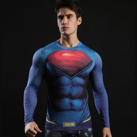 Spider-Man shirt gym shirt men running long sleeve compression shirts tight marvel t shitrs Batman superman sports t shirt brand Karachi
