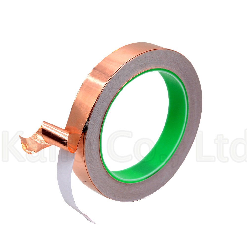 1PCS 20M 3mm-40mm 16mm Double guide copper foil tape Pure copper Conductive adhesive tape Shield tape Single side glue Soldering