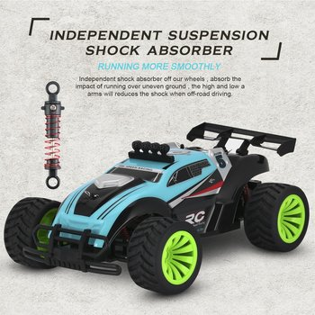 Green 2.4Ghz Wireless Remote Control High Speed Electric RC Racing Car Offroad Remote Control Car Truck 14+ Age