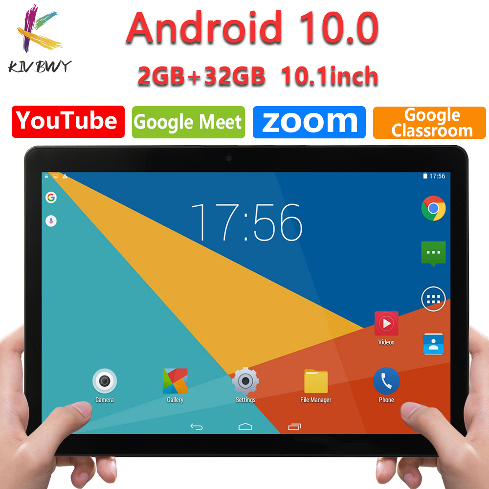 New Google Tablet Pc 10.1 Inch Android 10 Google Market 3G Phone Call 2GB RAM Tablets GPS WiFi Bluetooth Tempered Glass 10 inch