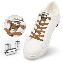 1 пара плоские шнурки замок без завязок; Шнурки специальные