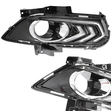 DRL Daytime Running Light For Ford Mondeo Fusion 2013 2014 2015 2016 LED Waterproof With Fog Lamp Hole Day light Relay