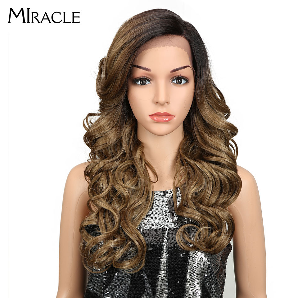 Miracle synthetic wigs 22 Inch Ombre Color Loose Wave Futura No Tangle Heat Resistant Hair Party