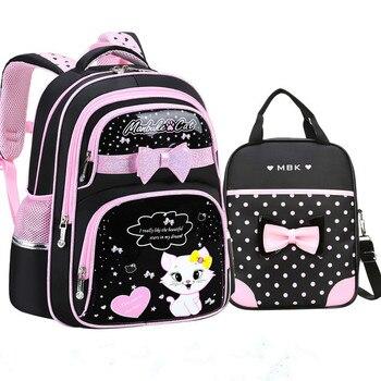 Waterproof Children School Bags Girls Orthopedic Backpacks cartoon cat Backpacks primary school Backpacks schoolbag Mochila