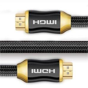 Image 3 - DZLST HDMI 케이블 4K 울트라 HD 60 HZ 남성 남성 HD TV 프로젝터 Hdmi 2.0 케이블에 대 한 고품질 골드 도금 공동 꼰 케이블