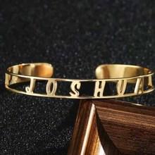 Best Friends Letters Engraved Bangle Stainless Steel Lettering Bracelet Fashion