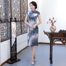Национальный Цвет двойной Слои tianxiang Цветочное платье средней