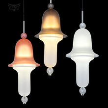 Post-modernism Glass Metal Pendant Lights Creative Designer Industrial Bedroom Dining Room Pendant Lamp Kitchen Light Fixture