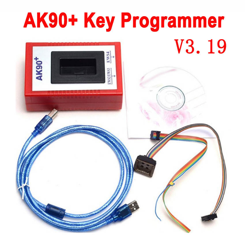 2019 Hot AK90 For BMW V3.19 AK90+ OBD2 Car Key Programmer for BMW EWS from 1995-2009 AK90 Key Programmer Free Shipping
