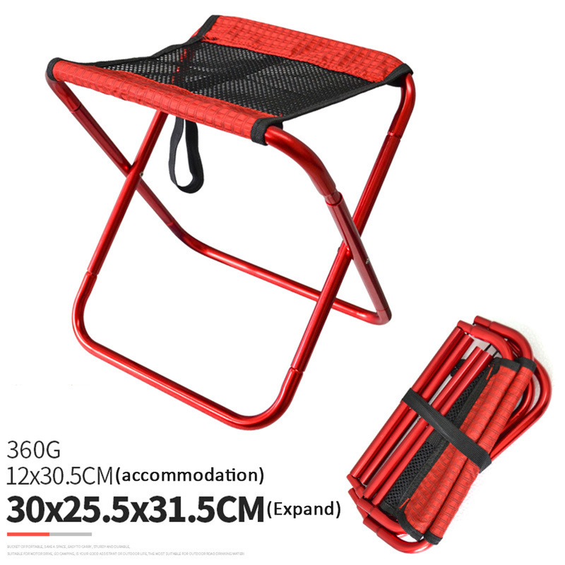 Foldable Camping Chair Fishing BBQ Hiking Ultra Light Chair Outdoor Tools Beach Picnic Seat Folding stool portable chair