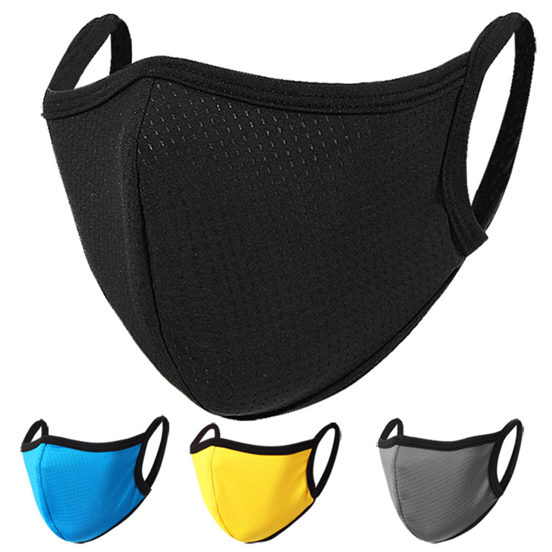 Ice Silk Quick-drying Breathable Dust-proof Outdoor Masks For Men Women Spring Summer Solid Color Face Shield Cover Mouth Masks