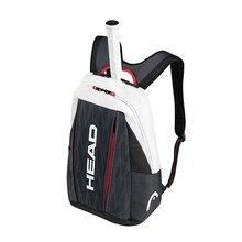 Cabeça original saco de tênis raquete de tênis squash badminton peteca mochila tênis tenis bolso mochila