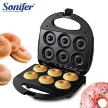 750 Вт электрическая вафельница, сэндвич-мейкер, сделай сам, машина для приготовления пончиков, вафельница для завтрака, противень для выпечки с антипригарным покрытием, 220 В, Sonifer