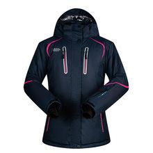 Лыжный костюм для женщин, брендовый уличный костюм для снега BDD, ветрозащитные водонепроницаемые зимние брюки и куртки, Женская куртка для г...