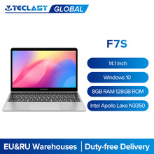 Teclast – pc portable F7S, écran de 14.1 pouces, résolution de 1920x1080 px, technologie IPS, 8 go de RAM, SSD de 128 go, Windows 10, processeur Intel Apollo Lake, wi-fi double bande