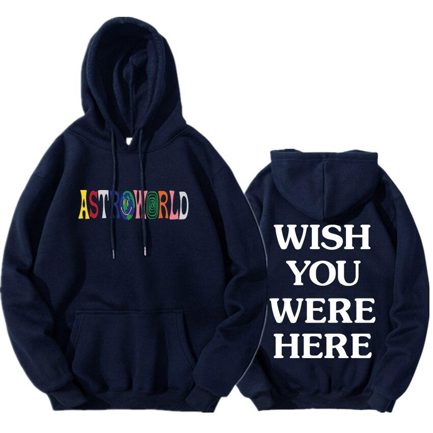 Travis Scott Astroworld Hoodie THRILLS and CHILLS Wish you were here pullover